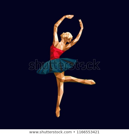 Ação dourado logotipo gráfico menina corpo Foto stock © shawlinmohd