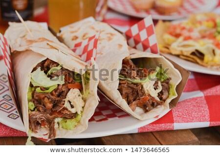Pulled Pork Burrito Dinner Stock photo © rojoimages