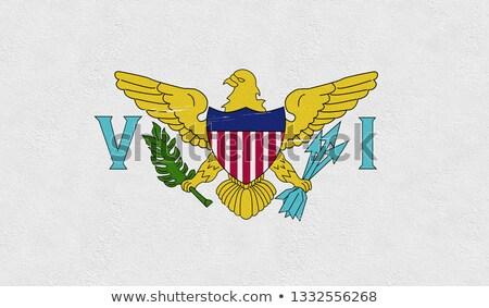 Canada Virgin Islands bandiere puzzle isolato bianco Foto d'archivio © Istanbul2009
