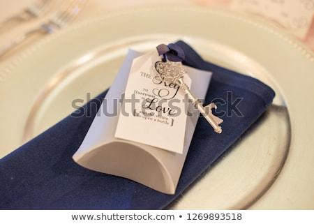 Casamento conjunto outro rosa restaurante Foto stock © c12
