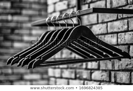 Noir vêtements blanche maison groupe magasin Photo stock © tetkoren