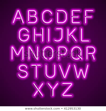 Glowing Ultraviolet  Neon Alphabet Stock photo © Voysla