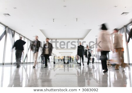 moving croud and escalator stock photo © paha_l