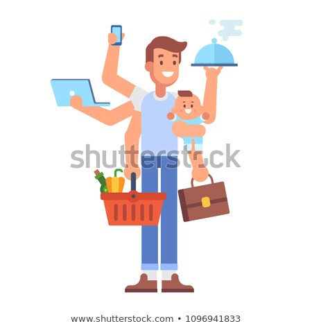 baby with father in shop Stock photo © Paha_L