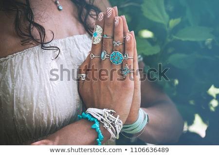 donna · ponte · posa · montare - foto d'archivio © paha_l