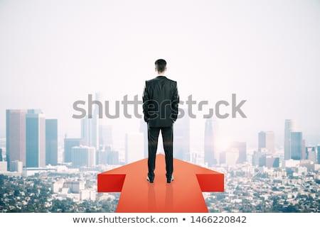 вперед успех бизнесмен полный рейсы Сток-фото © tiKkraf69