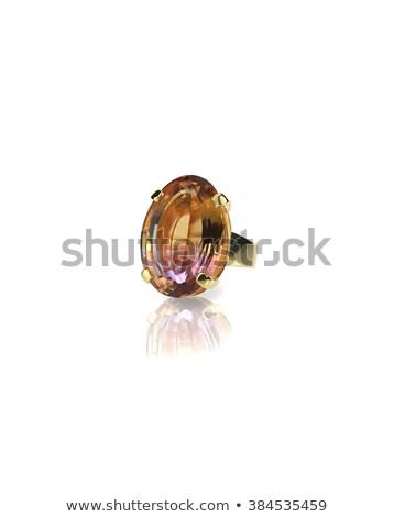 Anguria gemma anello isolato bianco Foto d'archivio © fruitcocktail