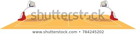 Boisko do koszykówki symbol tekstury sportu tle sztuki Zdjęcia stock © freesoulproduction