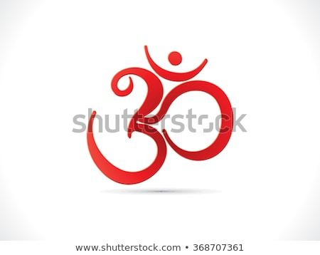 abstract artistic red om text Stock photo © pathakdesigner