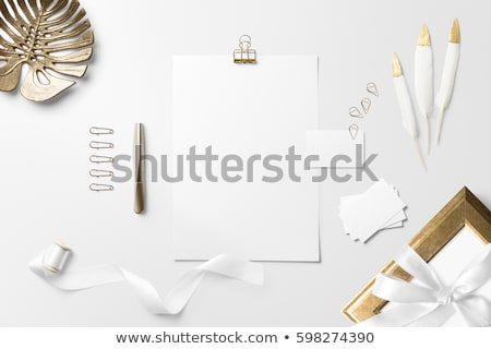 envelope and feather stock photo © cosma