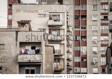 Communist Building Apartments Stock photo © radub85