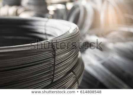 Rolls of steel wire Stock photo © albertdw