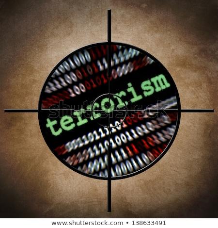 Terrore target iscritto abstract segno blu Foto d'archivio © hlehnerer