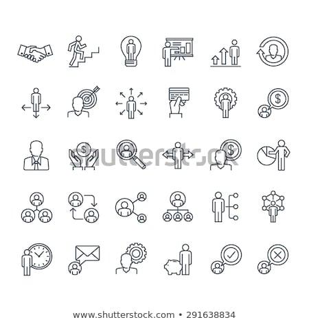 análise · de · negócios · linha · ícones · metáfora · negócio - foto stock © genestro