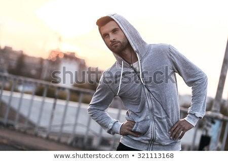 erkek · koşucu · antreman · spor · vücut - stok fotoğraf © deandrobot