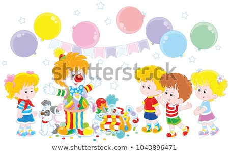 Playful clowns Stock photo © bluering