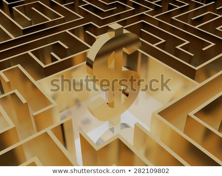 gold dollar puzzle stock photo © oakozhan