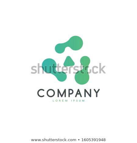 抽象的な · 緑 · サークル · チェーン · 群衆 · パズル - ストックフォト © MONARX3D