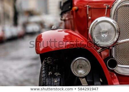Old abandoned red car Stock photo © ankarb