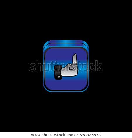 metal plate hand sign theme icon button Stock photo © vector1st