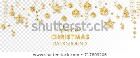 Magical Christmas Decoration with White Balls Stock photo © dariazu