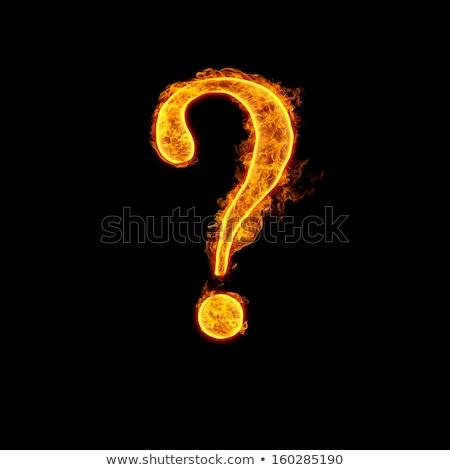 fiery question mark Stock photo © blackmoon979