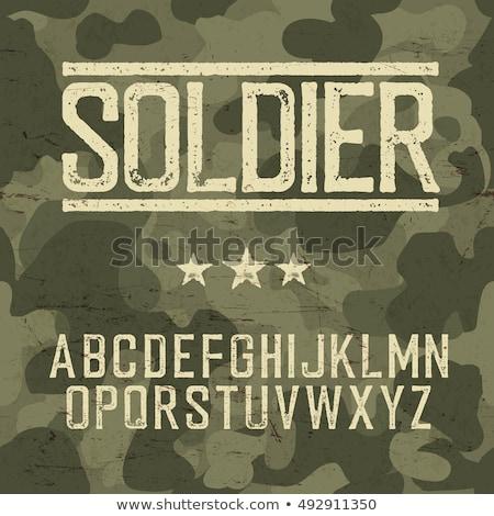 Leger krachten soldaat pistool geïsoleerd Stockfoto © grafvision