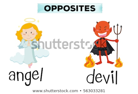 слов дьявол ангела иллюстрация лице Сток-фото © bluering