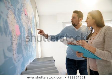 два · Мир · карта · иллюстрация · карта · фон - Сток-фото © bluering