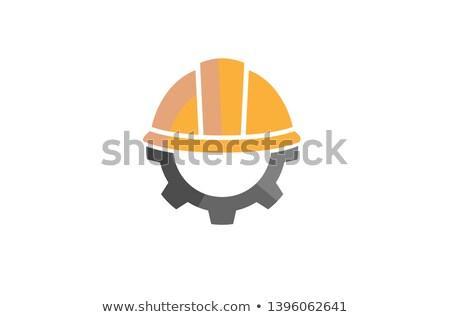 Сток-фото: Gear · шлема · дизайна · икона · 10 · бизнеса