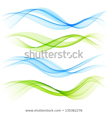 set of blend abstract wave stock photo © fresh_5265954