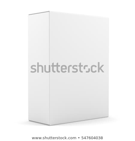 Cardboard boxes with container isolated over white background, 3d Illustration Stock photo © tussik