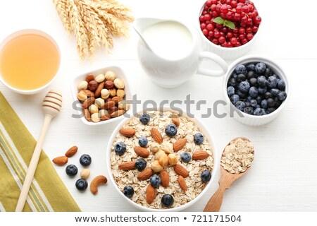 Oatmeal porridge with hazelnuts Stock photo © Digifoodstock