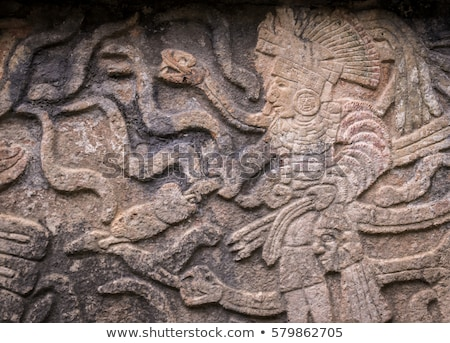 Ancient Mayan stone reliefs in Chichen Itza Stock photo © julianpetersphotos