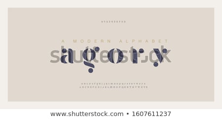 Alphabets A to I Stock photo © neelvi
