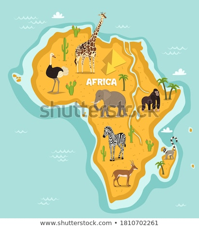 giraffe, illustration of wildlife, zoo, wildlife, animal of Afri Stock photo © perysty