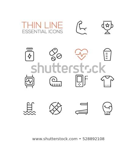 szív · mobil · illusztráció · orvosi · logo · gyógyszer - stock fotó © smoki