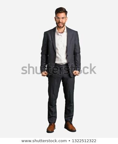 jefe · gritando · empleado · trabajo · empresario · trabajador - foto stock © rastudio