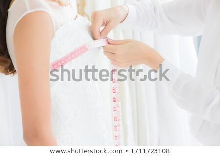 Manken dikiş güzel elbise genç gündelik Stok fotoğraf © dash