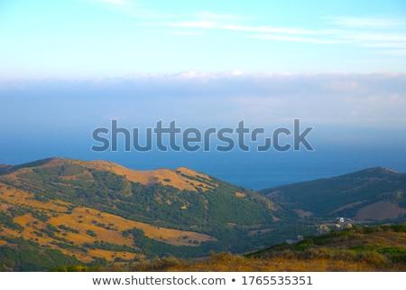 岩 青空 緑の草 風景 空 自然 ストックフォト © compuinfoto