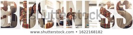 Iş girişimcilik fotoğraf kolaj ahşap Stok fotoğraf © stevanovicigor