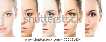 collage of a beautiful woman with perfect clean skin Stock photo © master1305