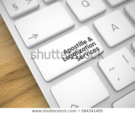 Authentication and Legalization Services Concept. 3D render. Stock photo © tashatuvango