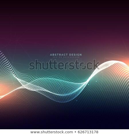 Dinamik parçacık soyut arka plan Stok fotoğraf © SArts
