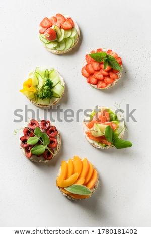 Riso dolci fette pane legno tagliere Foto d'archivio © Digifoodstock