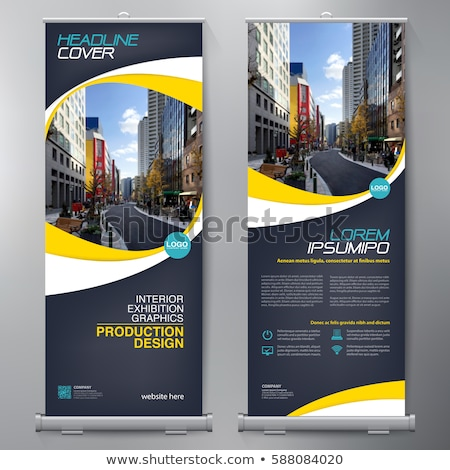 business rollup standee banner design template stock photo © SArts