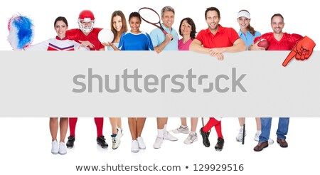 Portrait of female sportsperson holding volleyball Stock photo © wavebreak_media