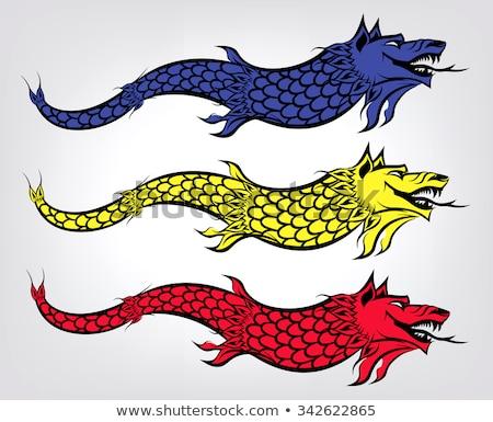 Wolf vlag historisch regio koninkrijk symbool Stockfoto © tony4urban