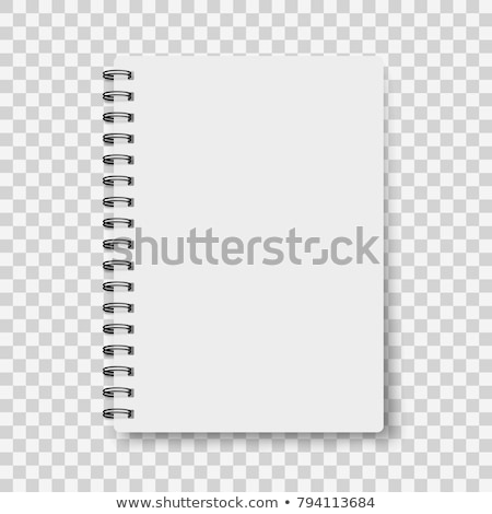 realistic note template blank spiral and paper clean mock up for your design vector illustration stock photo © pikepicture