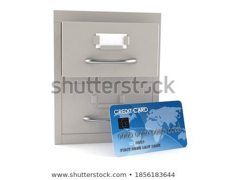 cartão · arquivo · contabilidade · 3D · escrito - foto stock © tashatuvango